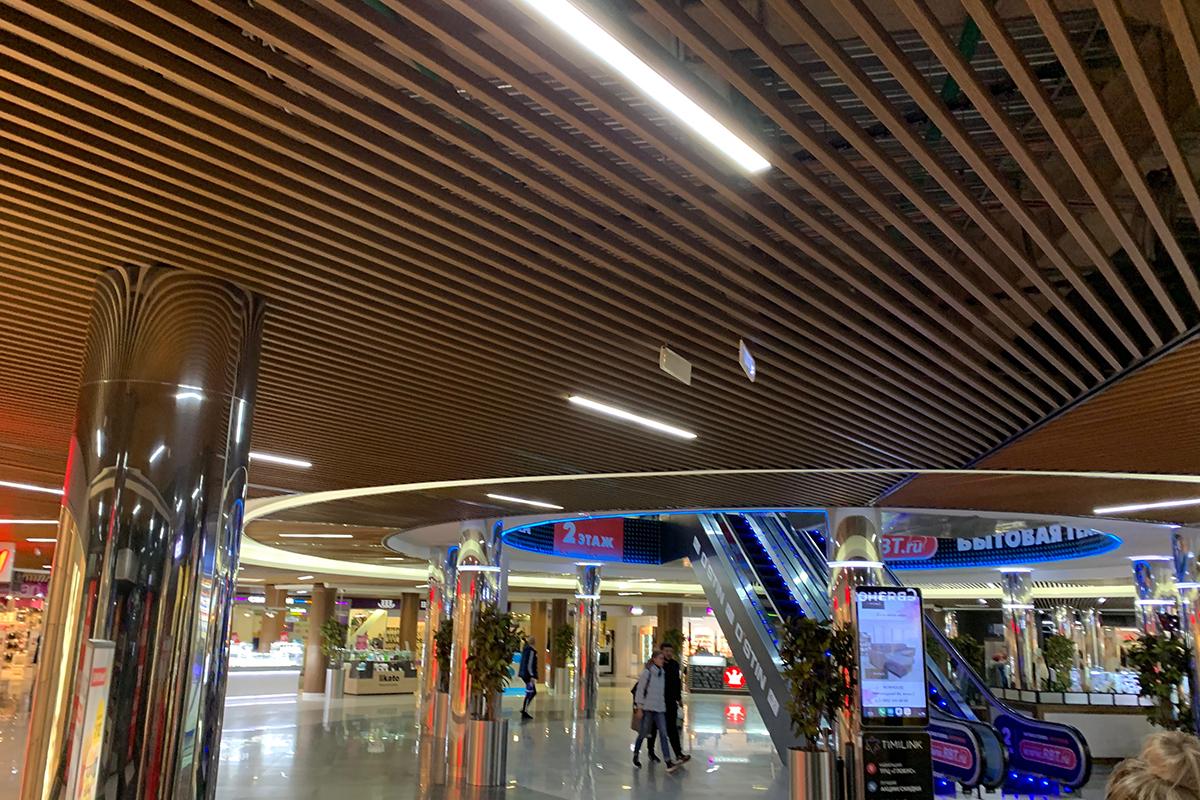Кубообразный потолок 45x40x45 дуб медовый