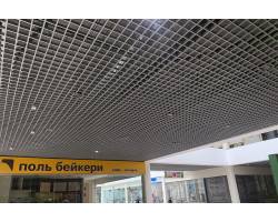 Потолок Грильято 100x100 GL-15  металлик матовый