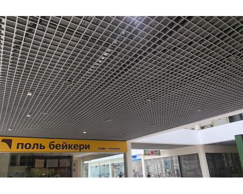 Потолок Потолок Грильято 100x100 GL-15  металлик матовый