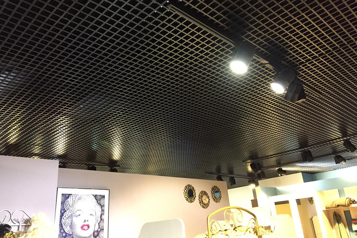 Потолок Грильято 50x50 чёрный