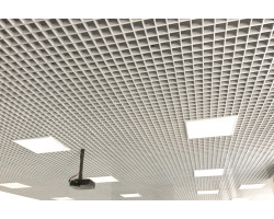 Потолок грильято Стандарт 75x75 белый