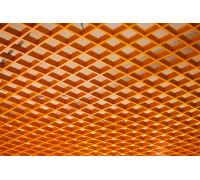 Грильято 100x100 оранжевый RAL-2007