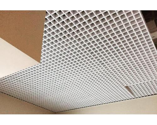 Потолок Грильято 60x60 белый матовый