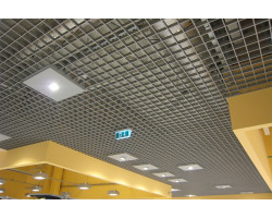 Потолок грильято 150х150 металлик серебристый