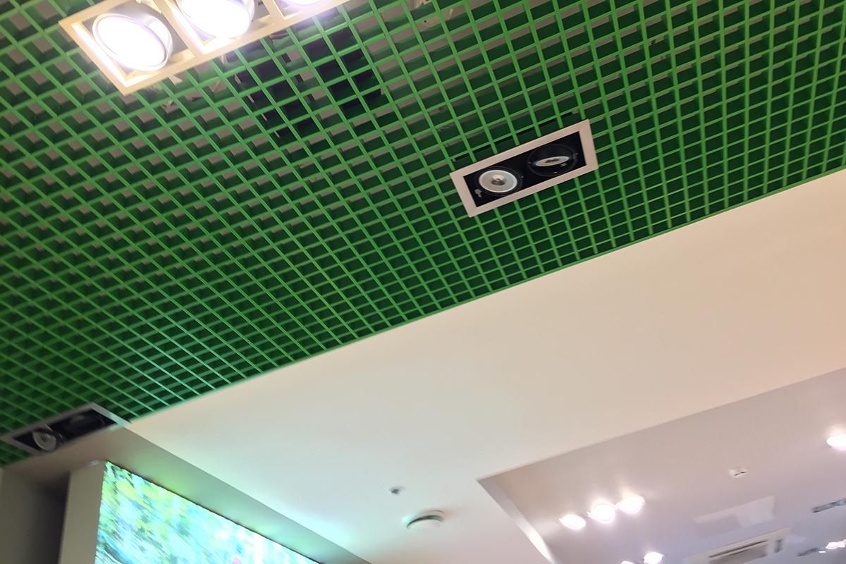 Грильято 75x75 цвет  зеленое яблоко RAL-6018