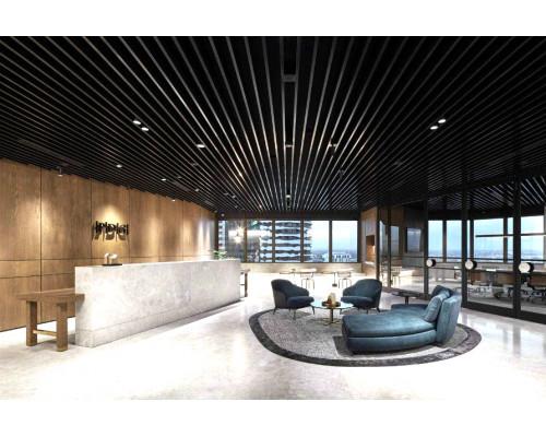Кубообразный реечный потолок 100х30х100 Черный
