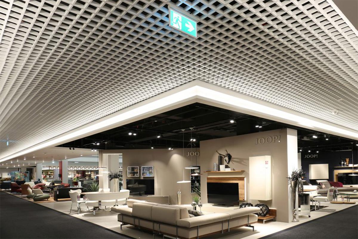 Потолок Грильято 100x100 GL-15  белый