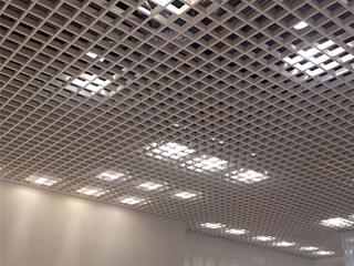 Размещение светильников для Грильято с ячейкой 100х100
