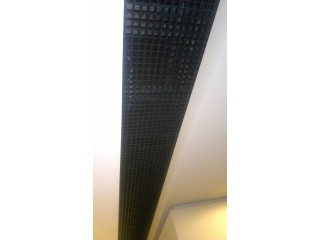 Вставка из чёрного Грильято 100х100