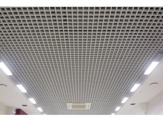 Подвесной потолок Грильято 75x75 белый