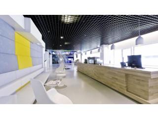 Грильято 100х100 чёрный в офисе Яндекс