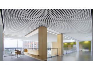Потолок Грильято цвет белый в Бизнес центре