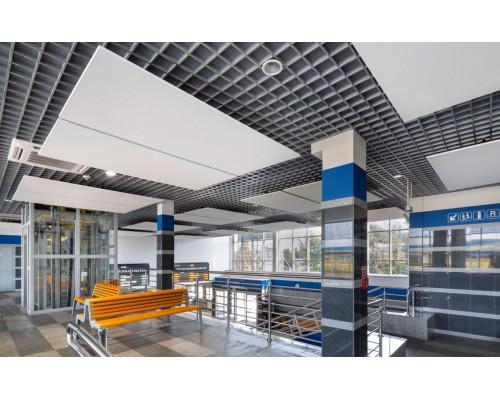 Потолок Грильято 150x150 металлик матовый