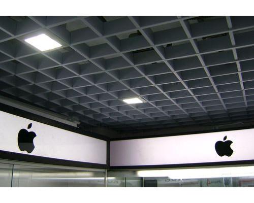 Потолок Потолок грильято 200х200 металлик серебристый
