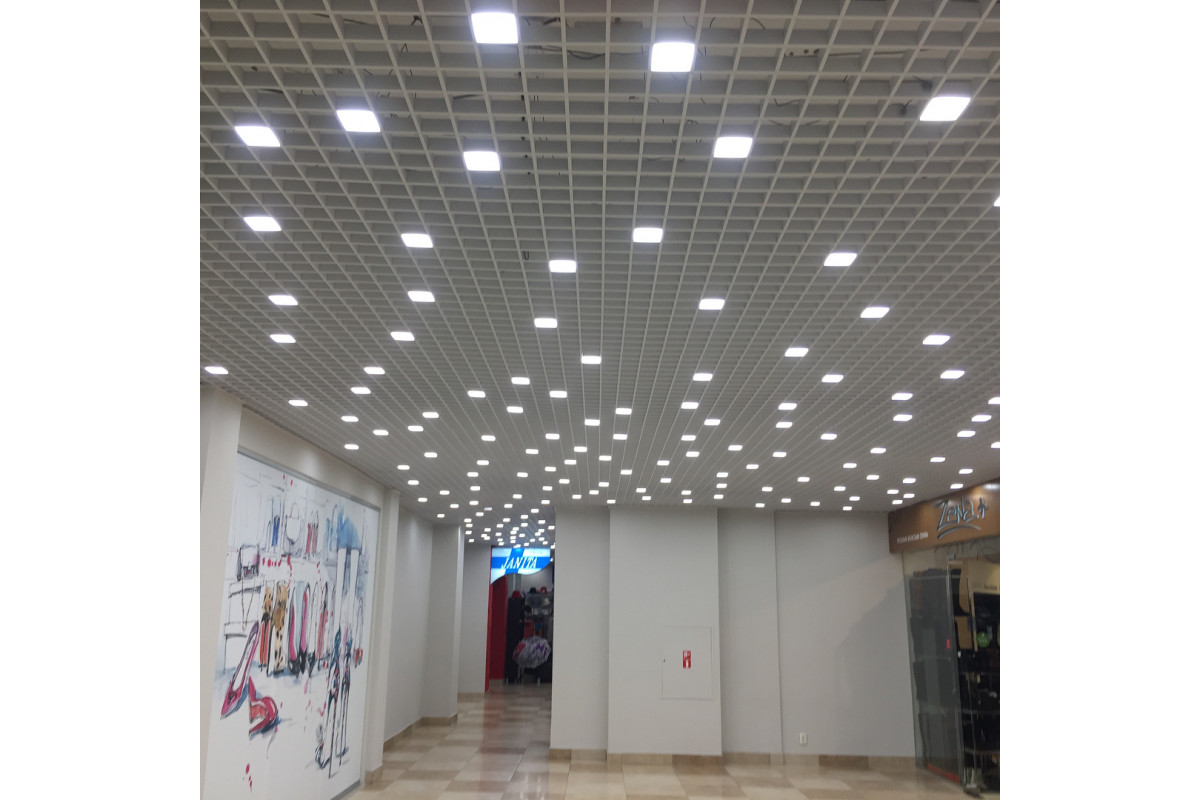 Светильники Альбатрос в ячейку 100x100 Грильято