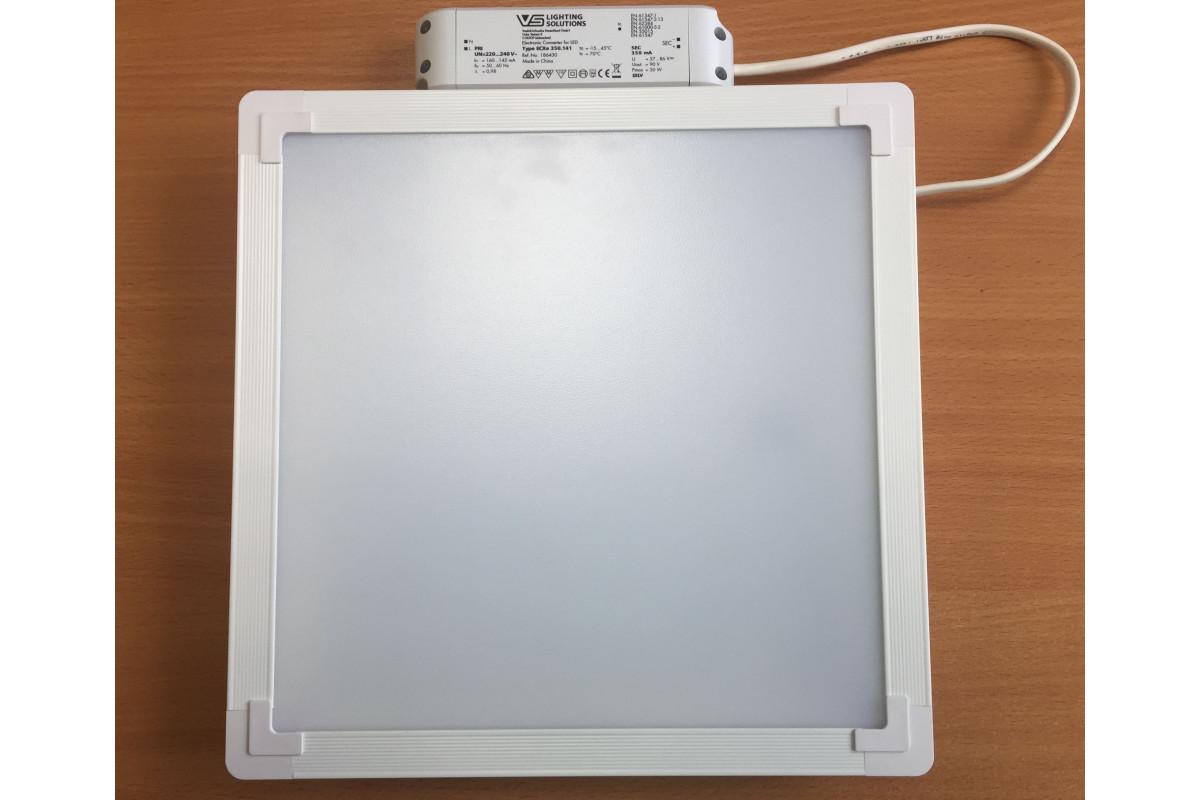 Светодиодный светильник Alumogips 22 OPAL-SAND 300x300 IP-40 для Грильято