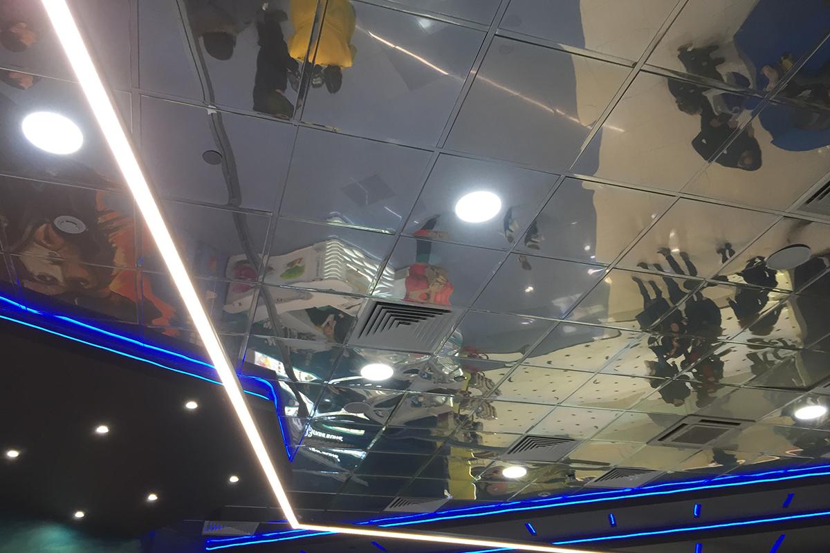 Кассетный потолок SKY суперхром