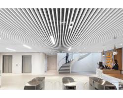 Кубообразный реечный потолок 45х40х45 белый матовый