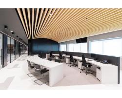 Кубообразный реечный потолок 65х50х65 Дуб Селект
