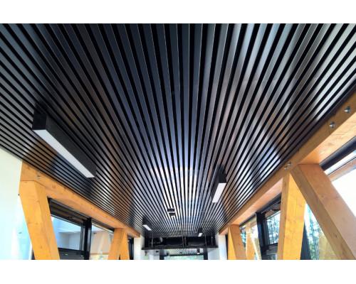 Кубообразный реечный потолок 45х40х45 черный