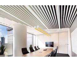 Кубообразный реечный потолок 50х30х50 Белый