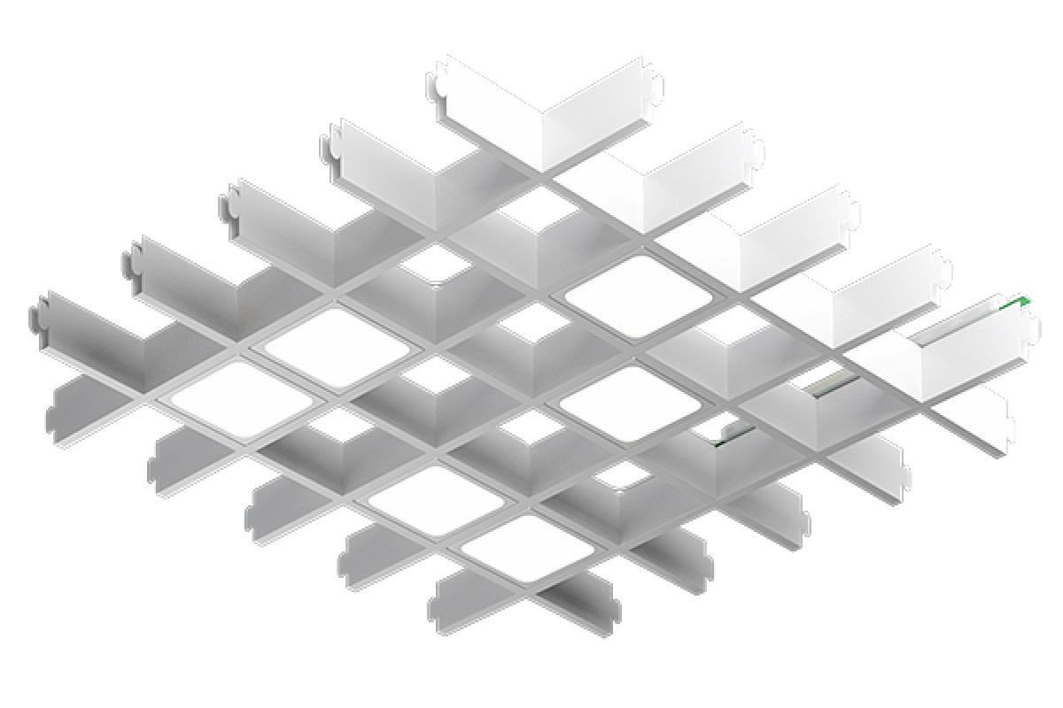 Светодиодный светильник Pix6 в ячейку Грильято
