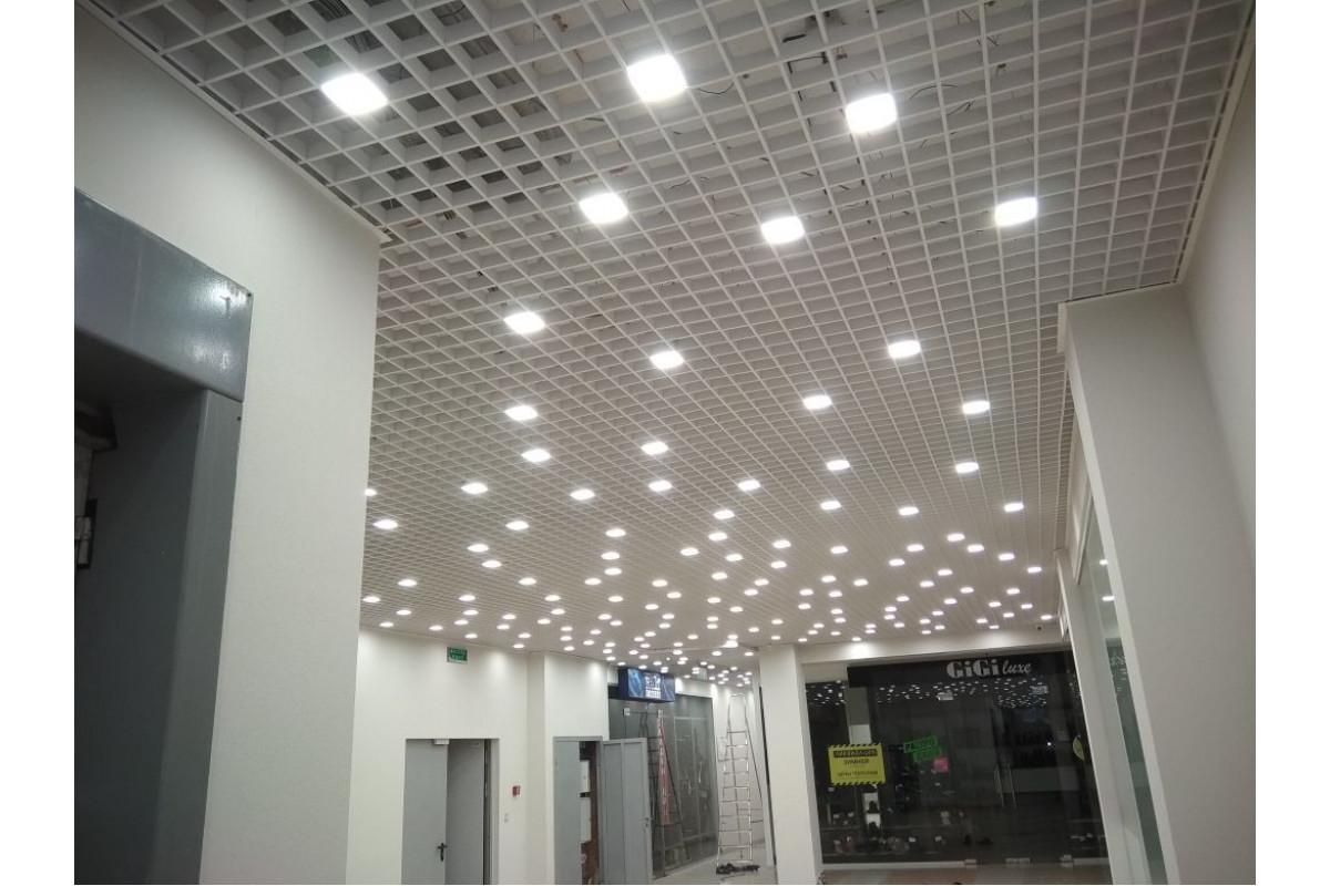Светодиодные светильники Альбатрос в ячейку 50x50 Грильято