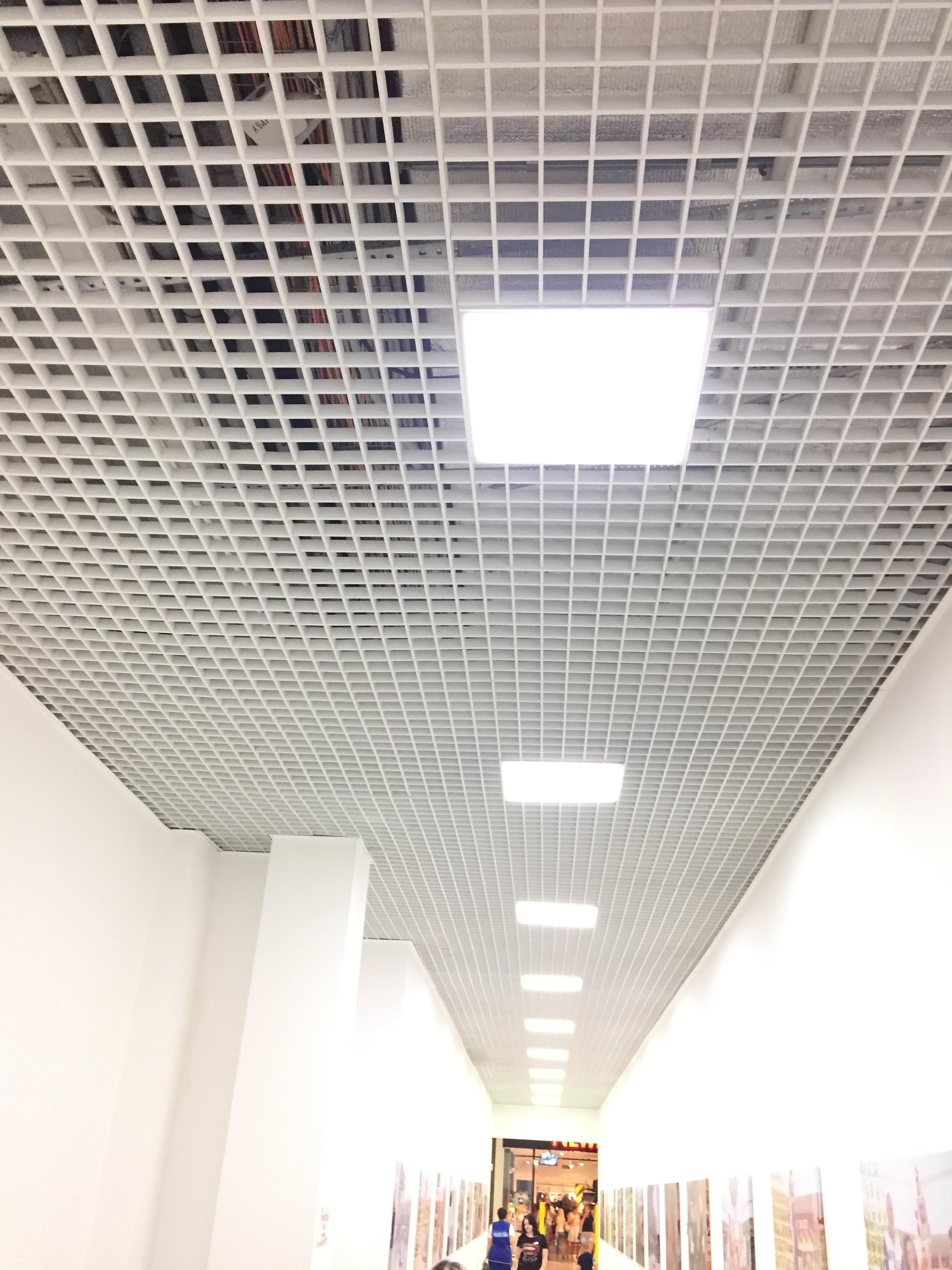 душу подвесные решетчатые потолки фото такая